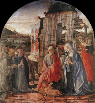 Francesco Canvas - Nativity 1475 Sienese Francesco di Giorgio
