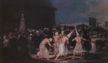 Procession of Flagellants on Good Friday Romantic modern Francisco Goya Oil Paintings