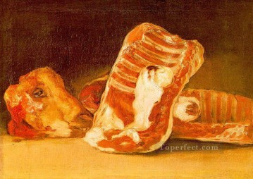 romantic romantism Painting - Still Life with Sheeps Head Romantic modern Francisco Goya