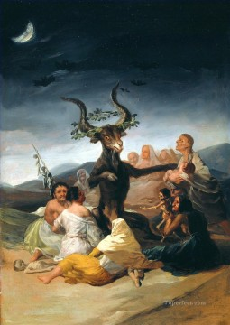 Francisco Goya Painting - Witches Sabbath Romantic modern Francisco Goya