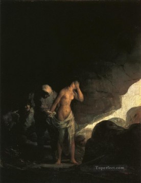 Brigand Stripping a Woman Francisco de Goya Oil Paintings