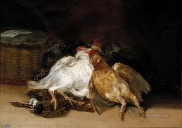 Goya Oil Painting - Dead Birds Francisco de Goya