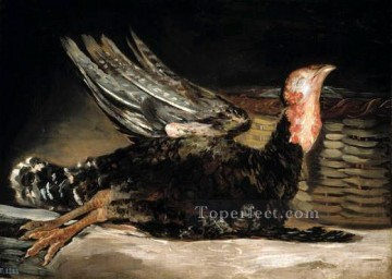 Goya Oil Painting - Dead turkey Francisco de Goya