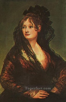 Dona Isabel Cobos de Porcel portrait Francisco Goya Oil Paintings