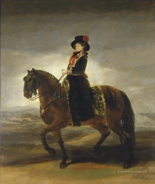 Equestrian portrait of Maria Luisa of Parma Francisco de Goya Oil Paintings