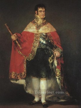 Francisco Goya Painting - Ferdinand 7in his Robes of State portrait Francisco Goya