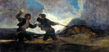 Francisco Goya Painting - Fight With Cudgels Francisco de Goya