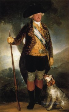 hunting Canvas - King Carlos IV in Hunting Costume Francisco de Goya
