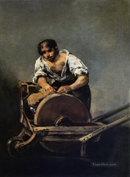 knife Art Painting - Knife Grinder Francisco de Goya