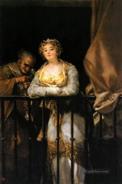 Maja Art - Maja and Celestina on a Balcony Francisco de Goya