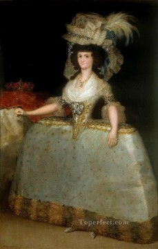 Francisco Goya Painting - Maria Luisa of Parma wearing panniers Francisco de Goya