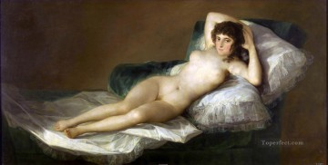 Goya Oil Painting - Nude Maja Francisco de Goya