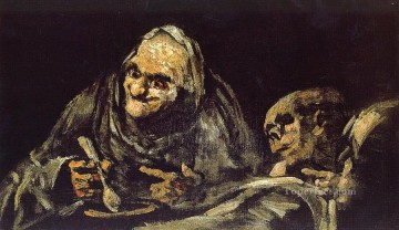 Francisco Goya Painting - Old eating soup Francisco de Goya