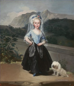 Francisco Goya Painting - Portait of Maria Teresa de Borbon y Vallabriga Francisco de Goya