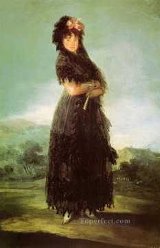 romantic romantism Painting - Portrait of Mariana Waldstein Romantic modern Francisco Goya