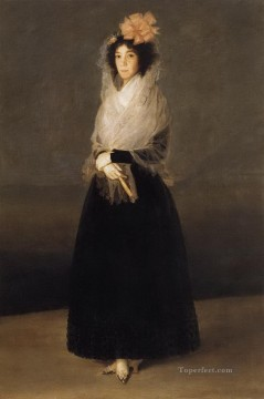 equestrian portrait of maria luisa of parma Painting - Portrait of the Countess of Carpio Francisco de Goya