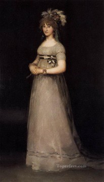 equestrian portrait of maria luisa of parma Painting - Portrait of the Countess of Chincon Francisco de Goya
