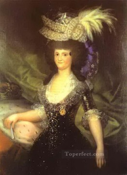 Goya Oil Painting - Queen Maria Luisa Francisco de Goya