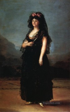 Queen Maria Luisa Wearing a Mantilla Francisco de Goya Oil Paintings