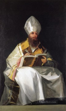 Goya Oil Painting - Saint Ambrose Francisco de Goya
