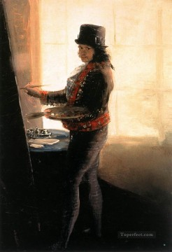 Francisco Goya Painting - Self portrait in the Studio Francisco de Goya