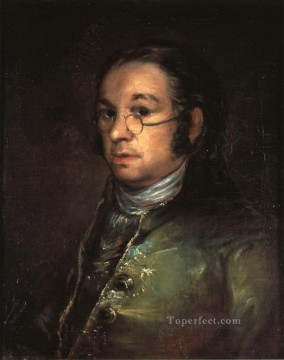 Self portrait with spectacles Francisco de Goya Oil Paintings