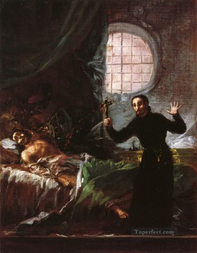 Francisco Goya Painting - St Francis Borgia Helping a Dying Impenitent Francisco de Goya