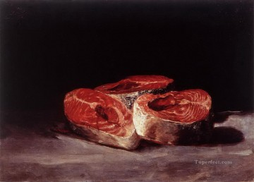 Francisco Art Painting - Still Life Three Salmon Steaks Francisco de Goya