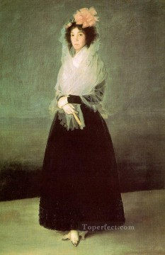 Francisco Goya Painting - The Countess of El Carpio portrait Francisco Goya