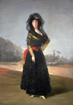 Goya Oil Painting - The Duchess of Alba Francisco de Goya