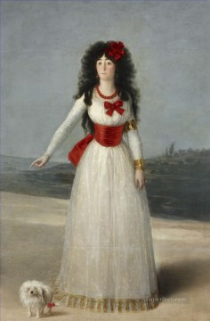 Francisco Goya Painting - The Duchess of Alba portrait Francisco Goya