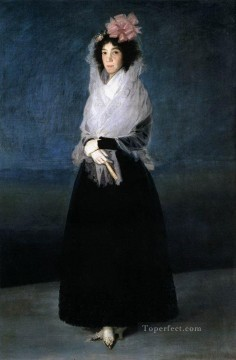 Francisco Goya Painting - The Marquesa de la Solana portrait Francisco Goya