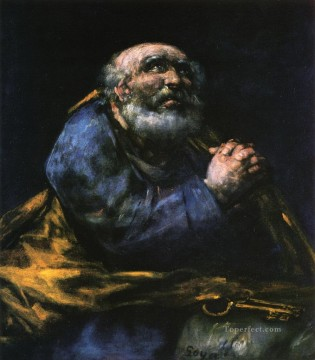 Francisco Goya Painting - The Repentant Saint Peter Francisco de Goya