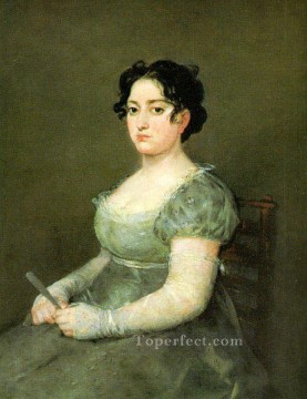 The Woman with a Fan portrait Francisco Goya Oil Paintings
