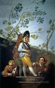 Goya Oil Painting - Boys playing soldiers Francisco de Goya