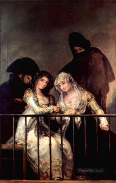 Majas on a Balcony Francisco de Goya Oil Paintings