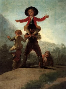 Playing Painting - Playing at Giants Francisco de Goya
