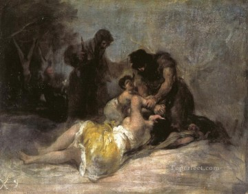 Rape Art - Scene of Rape and Murder Francisco de Goya