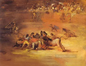 Scene of a bullfight Francisco de Goya Oil Paintings