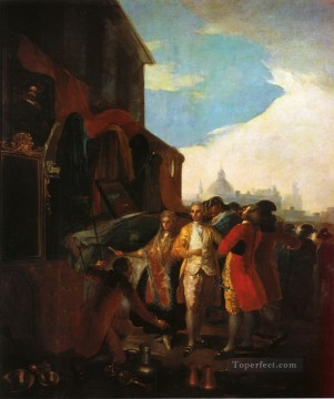 Francisco Goya Painting - The Fair at Madrid Francisco de Goya