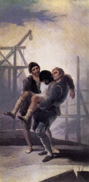The Injured Mason Romantic modern Francisco Goya Oil Paintings