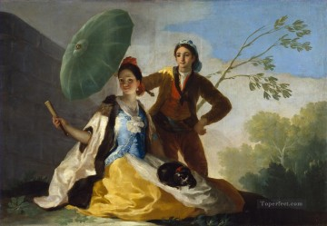 Francisco Goya Painting - The Parasol Francisco de Goya
