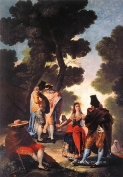 romantic romantism Painting - A Walk in Andalusia Romantic modern Francisco Goya