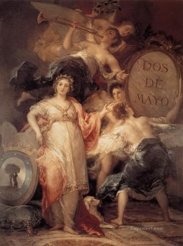 Allegory of the City of Madrid Francisco de Goya Oil Paintings