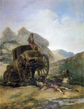 Goya Oil Painting - Attack on a Coach Francisco de Goya