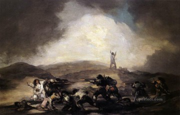 Robbery Romantic modern Francisco Goya Oil Paintings