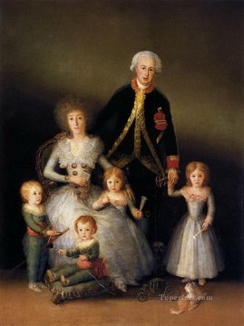 Francisco Goya Painting - The Family of the Duke of Osuna portrait Francisco Goya