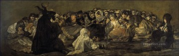 Francisco Goya Painting - The Great He Goat Or Witches Sabbath Francisco de Goya