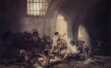Francisco Goya Painting - The Madhouse Francisco de Goya