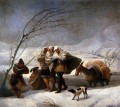 The Snowstorm Romantic modern Francisco Goya